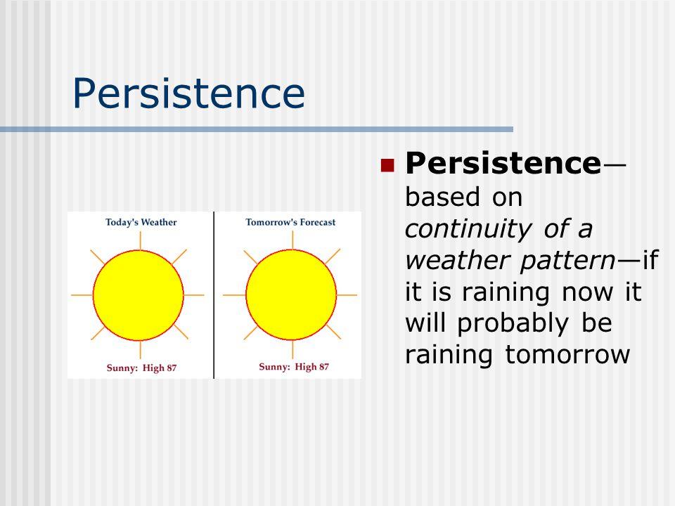 Methods of ForecastingForecasting Persistence Trend Analog