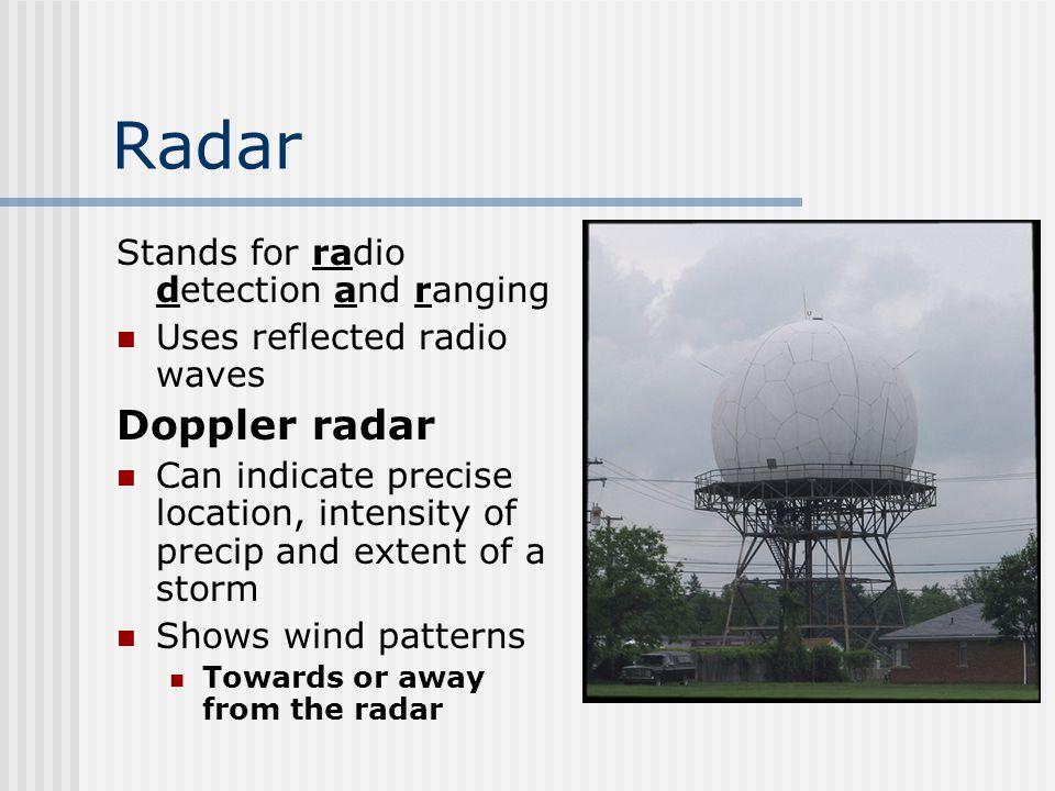 Doppler image of a hurricane