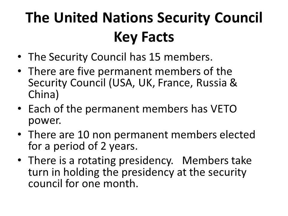 United Nations Security Council Summary of Purpose Under the Charter, the Security Council has primary responsibility for the maintenance of international peace and security.