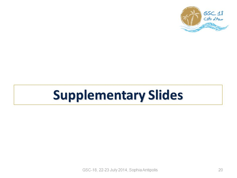 Supplementary Slides 20