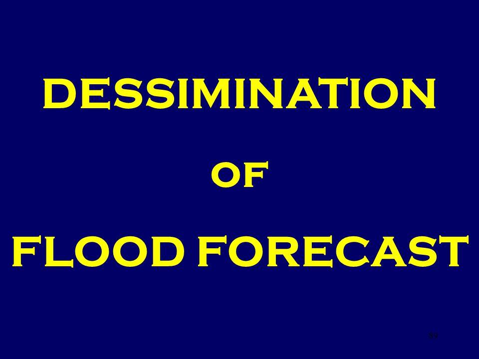 DESSIMINATION of FLOOD FORECAST 89