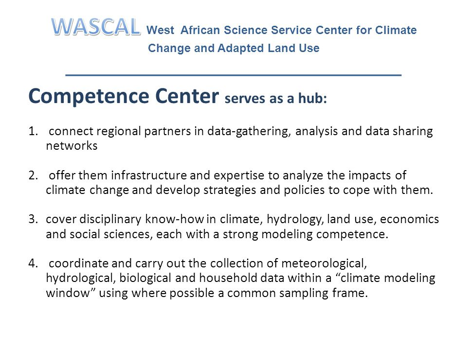 Competence Center serves as a hub: 1.