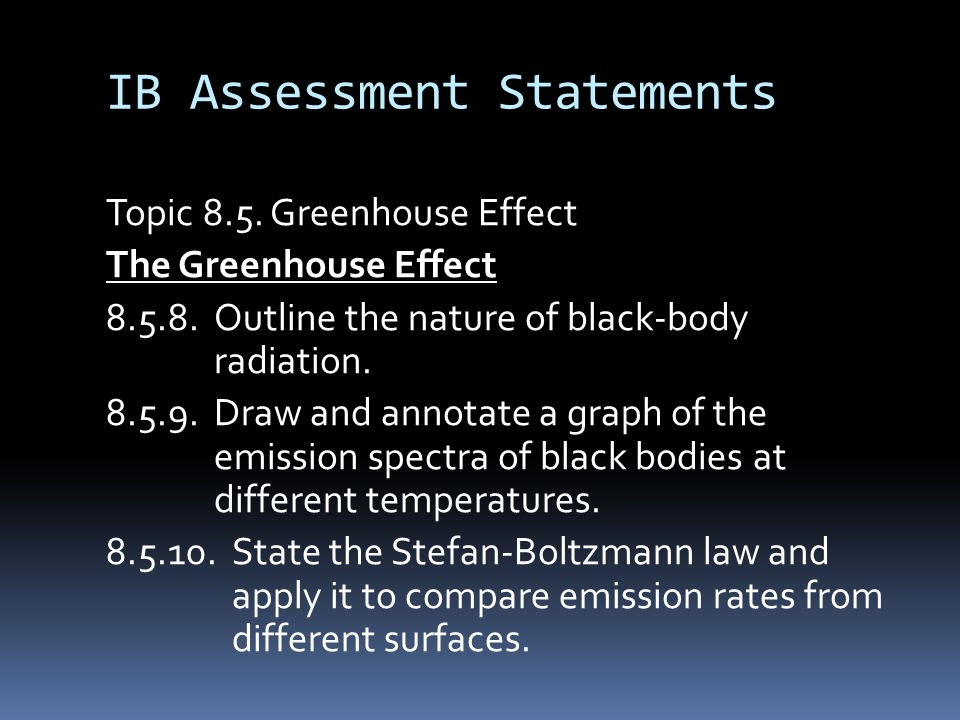 IB Assessment Statements Topic 8.5.