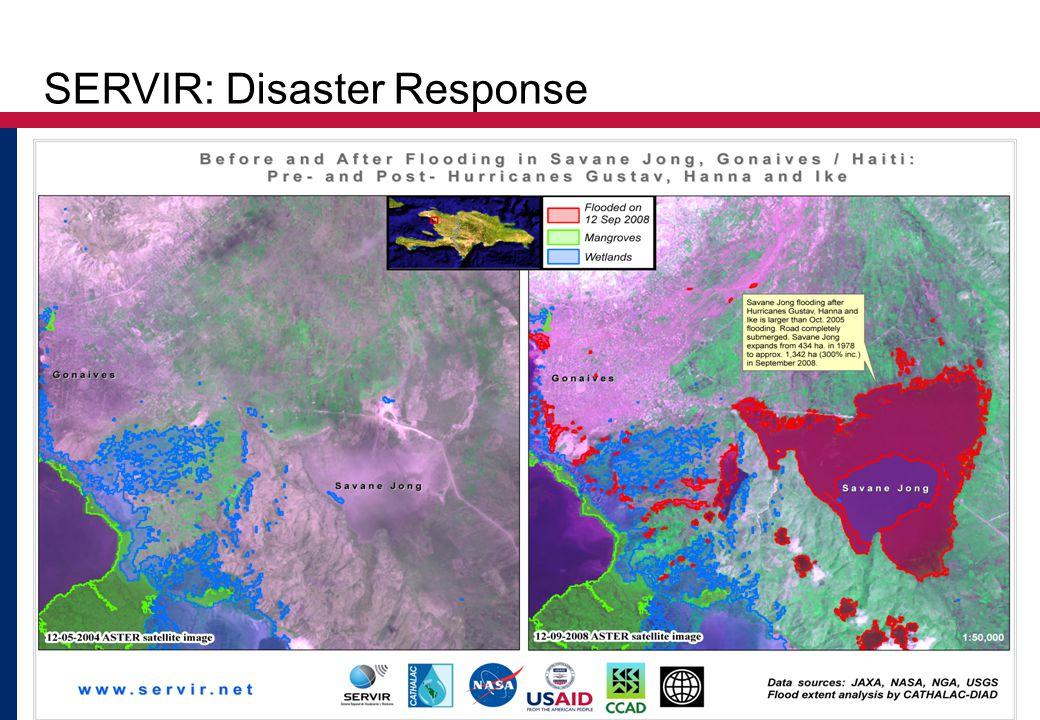 Vulnerability and Adaptation Training Workshop 22 SERVIR: Disaster Response