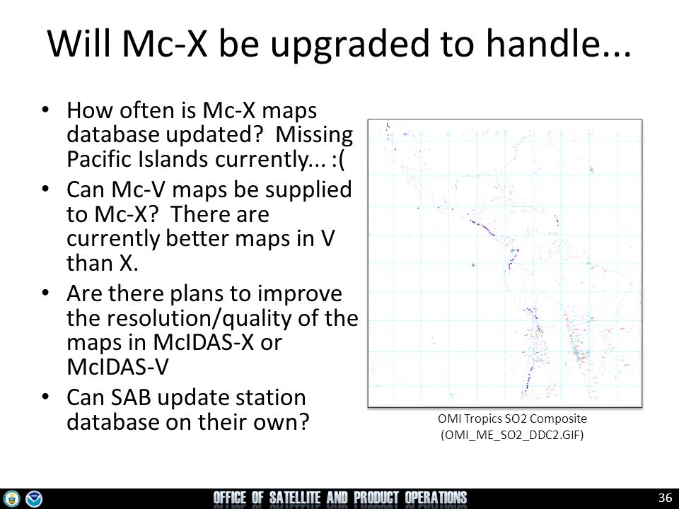 36 How often is Mc-X maps database updated? Missing Pacific Islands currently... :( Can Mc-V maps be supplied to Mc-X? There are currently better maps