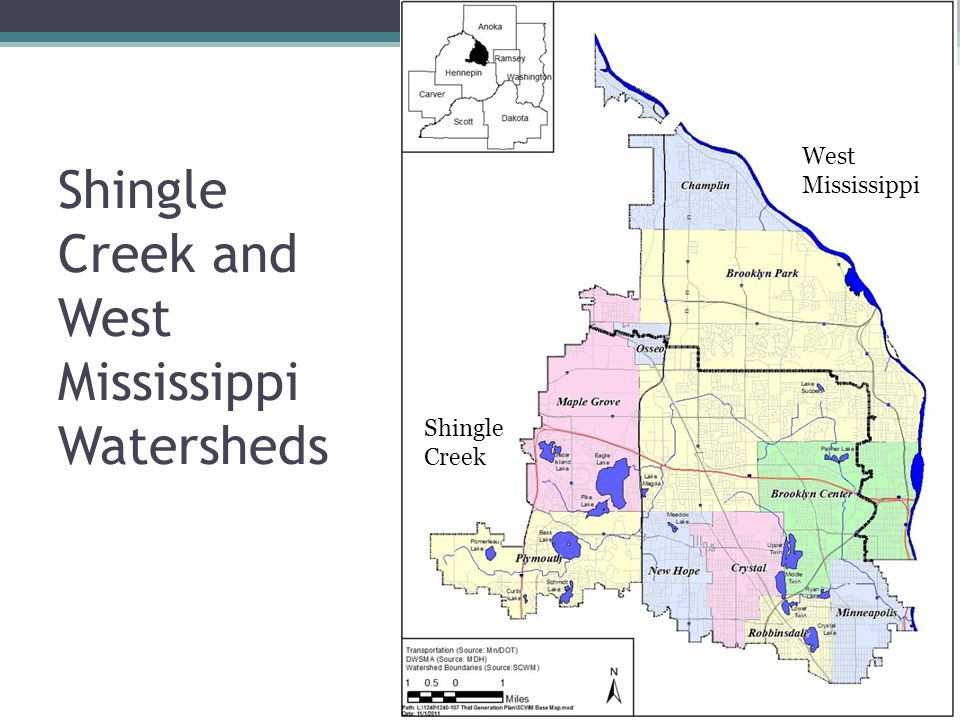 Shingle Creek and West Mississippi Watersheds West Mississippi Shingle Creek