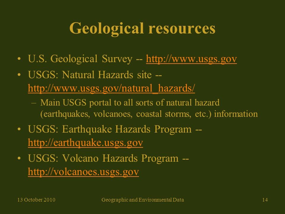 Geological resources U.S.