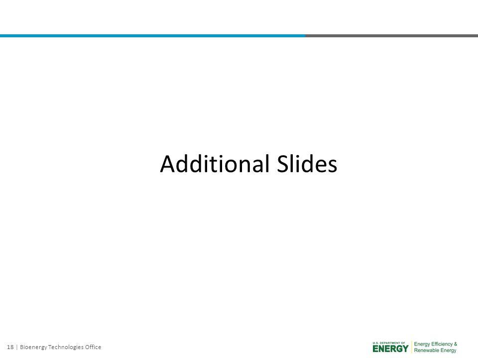 18 | Bioenergy Technologies Office Additional Slides
