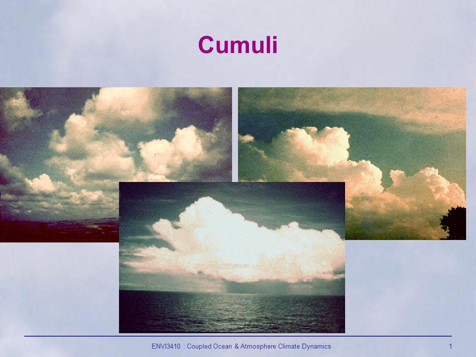 ENVI3410 : Coupled Ocean & Atmosphere Climate Dynamics1 Cumuli