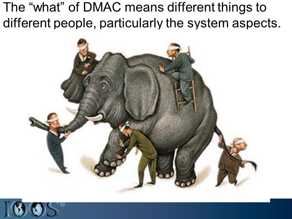The what of DMAC means different things to different people, particularly the system aspects.