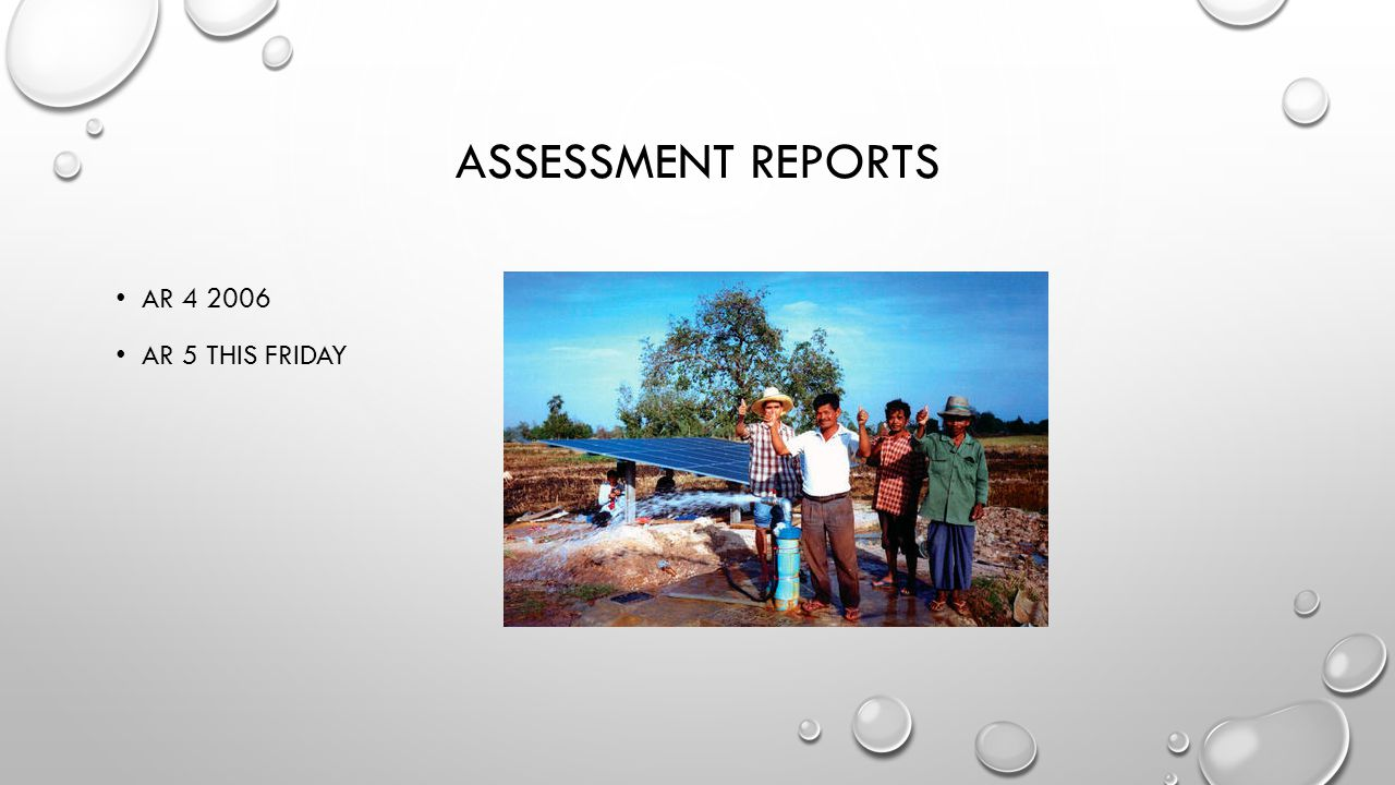 ASSESSMENT REPORTS AR 4 2006 AR 5 THIS FRIDAY