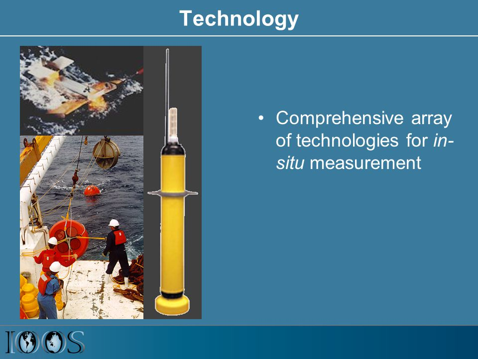 Technology Comprehensive array of technologies for in- situ measurement
