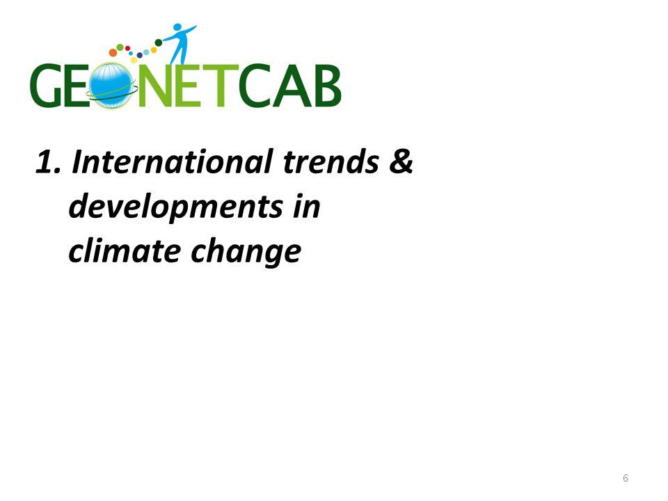 1. International trends & developments in climate change 6