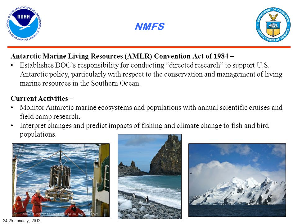 NESDIS & NWS 24-25 January, 2012 Current Activities – Support for coastal stations (U.S.