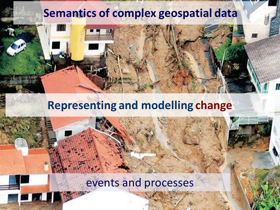 Representing and modelling change events and processes Semantics of complex geospatial data