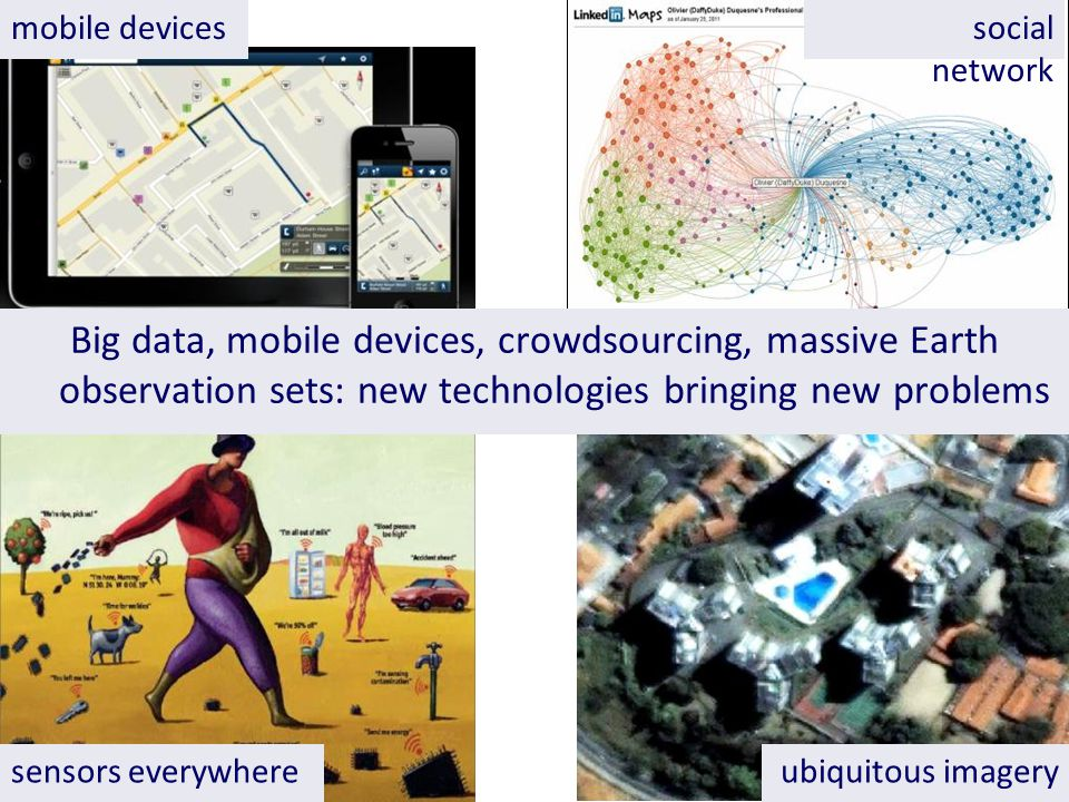 social network sensors everywhere mobile devices ubiquitous imagery Big data, mobile devices, crowdsourcing, massive Earth observation sets: new technologies bringing new problems