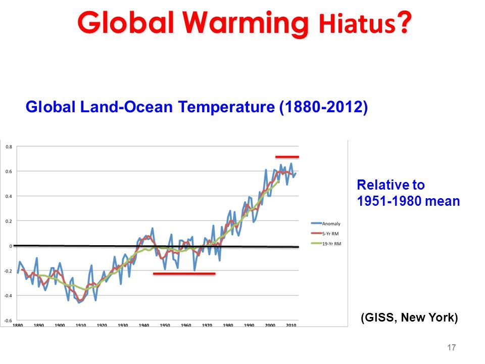 Global Warming . Global Warming Hiatus .