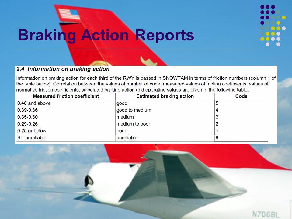 Braking Action Reports