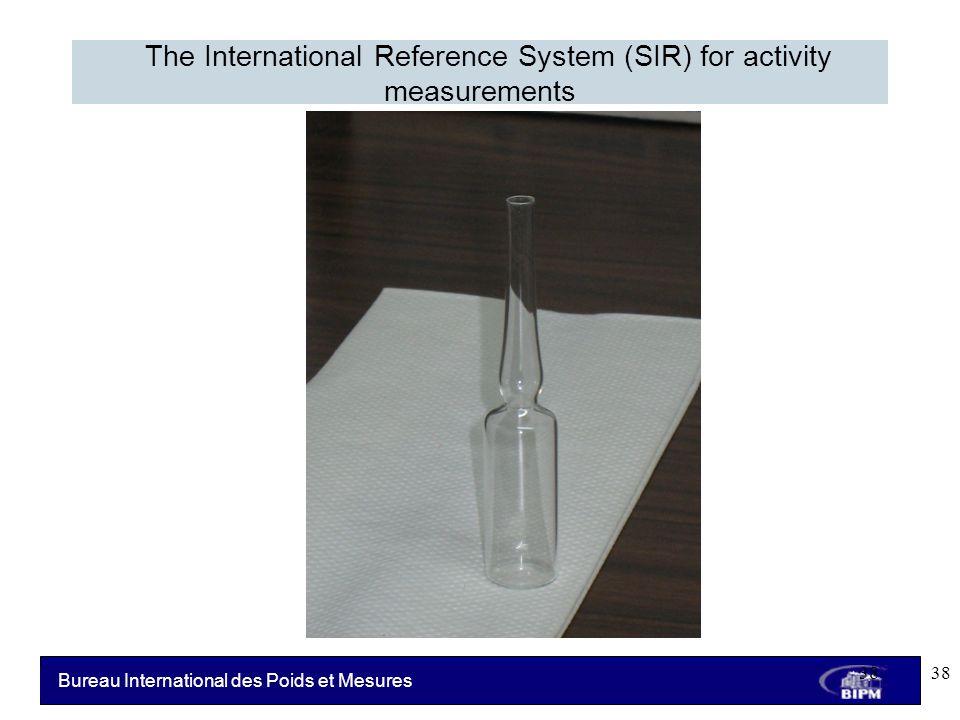 Bureau International des Poids et Mesures The International Reference System (SIR) for activity measurements 38