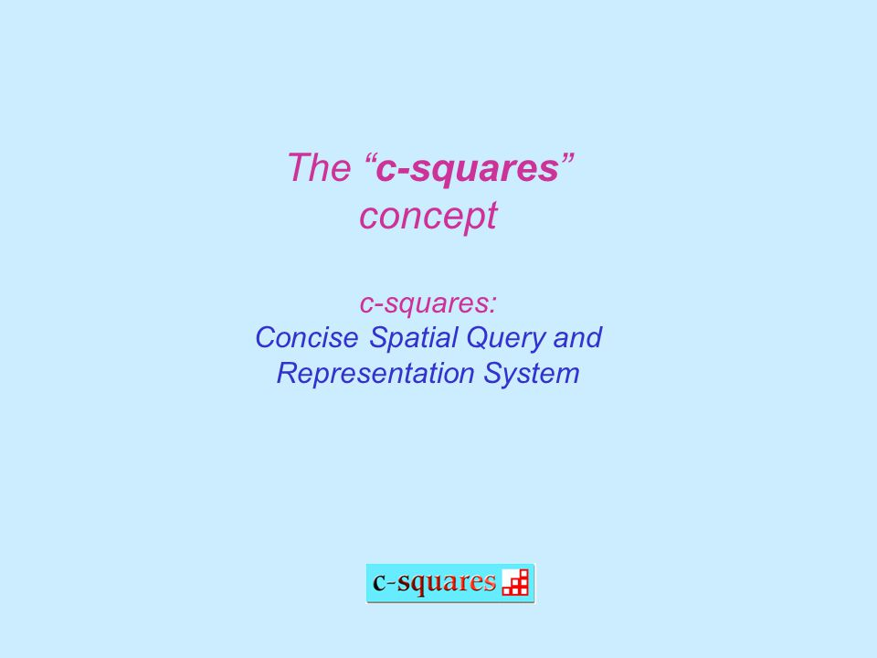 The c-squares concept c-squares: Concise Spatial Query and Representation System