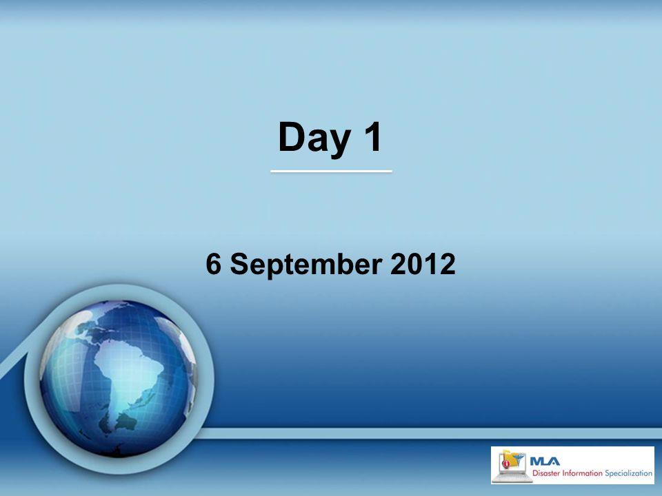 Day 1 6 September 2012
