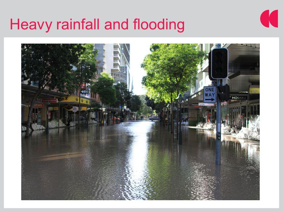 Heavy rainfall and flooding