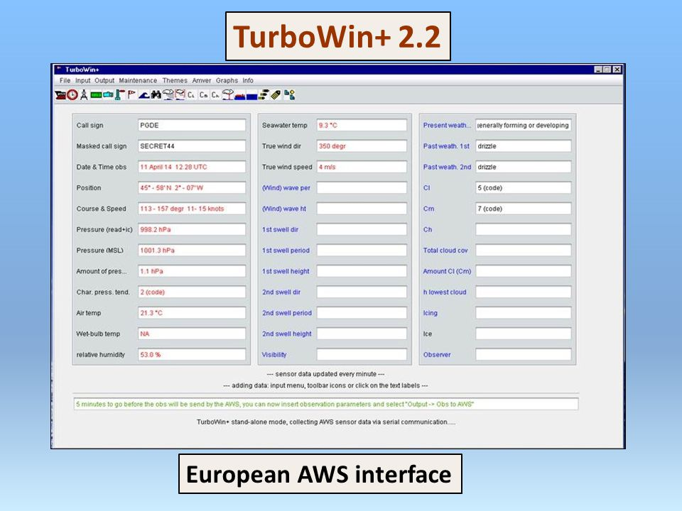 European AWS interface