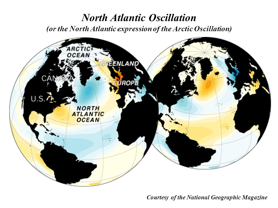 North Atlantic Oscillation (or the North Atlantic expression of the Arctic Oscillation)