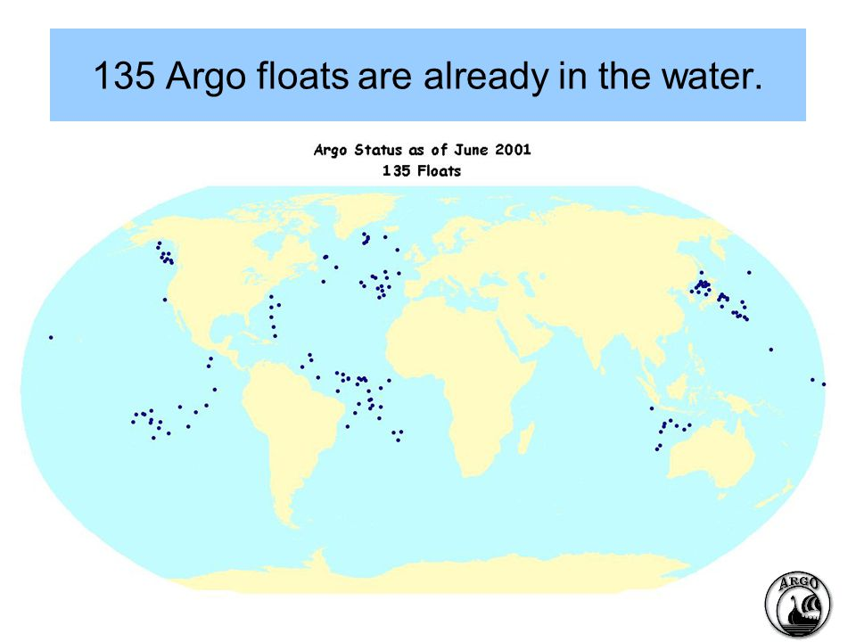 135 Argo floats are already in the water.