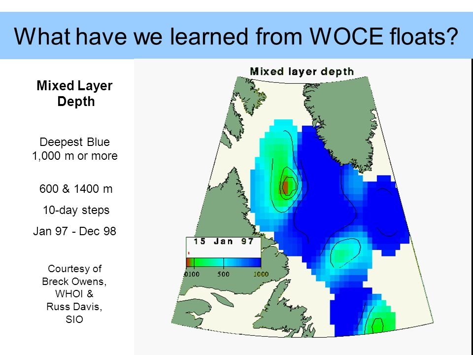 What have we learned from WOCE floats.