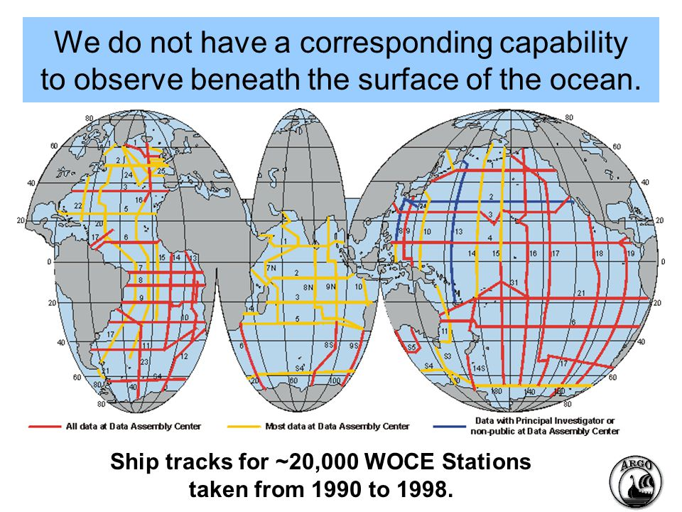 We do not have a corresponding capability to observe beneath the surface of the ocean.