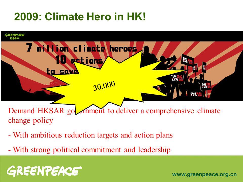 2009: Climate Hero in HK.