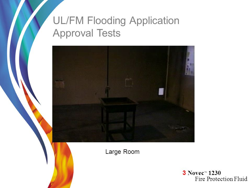 3 Novec ™ 1230 Fire Protection Fluid Large Room UL/FM Flooding Application Approval Tests