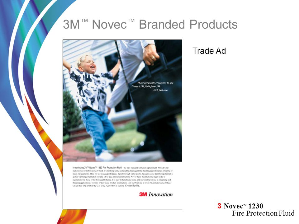 3 Novec ™ 1230 Fire Protection Fluid Trade Ad 3M ™ Novec ™ Branded Products