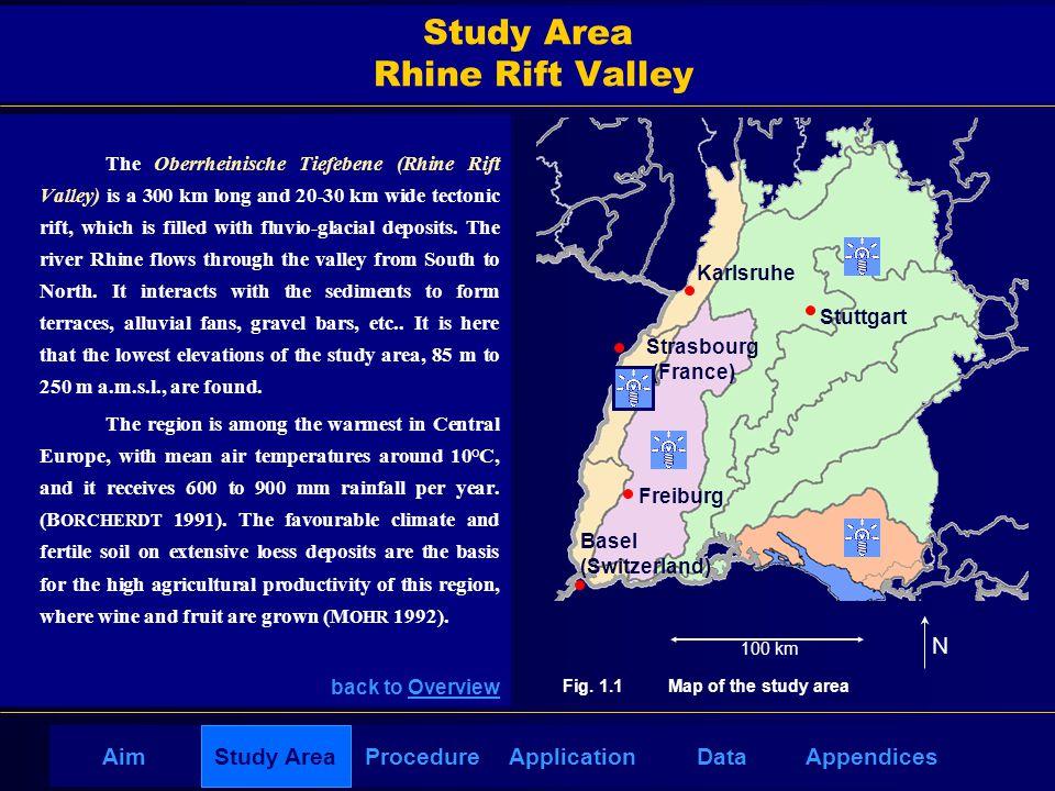 AppendicesAimDataStudy AreaProcedureApplication Study Area Rhine Rift Valley The Oberrheinische Tiefebene (Rhine Rift Valley) is a 300 km long and 20-