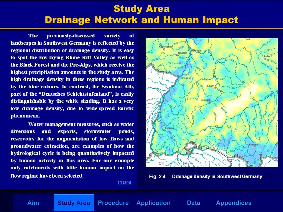 AppendicesAimDataStudy AreaProcedureApplication Study Area Drainage Network and Human Impact The previously-discussed variety of landscapes in Southwe