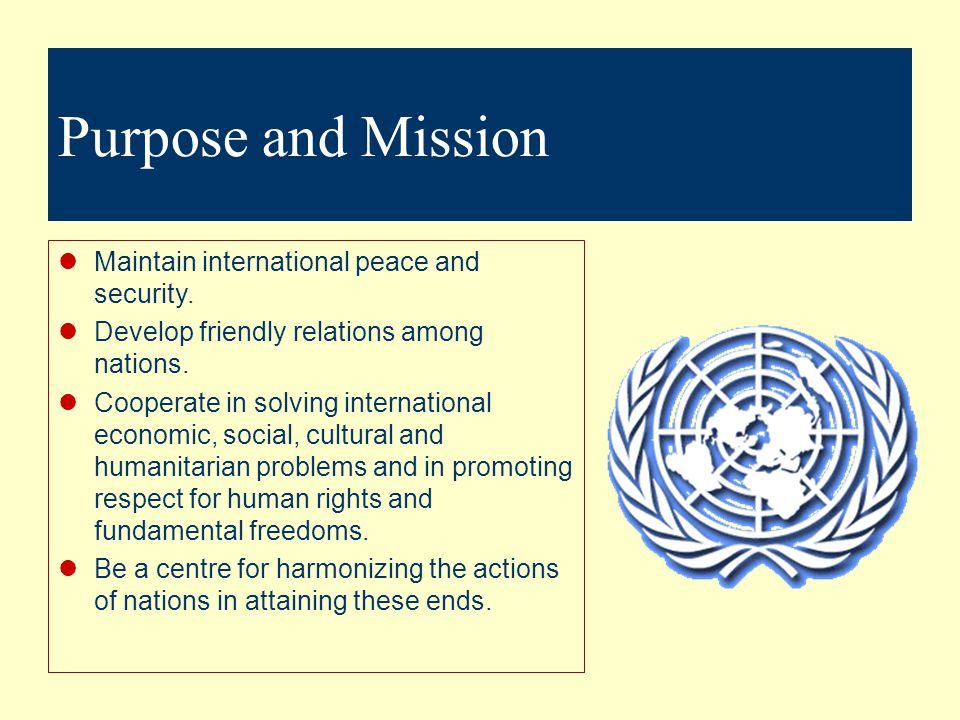 Essential Question 3 The United Nations What are various United Nations agencies, their functions, and role in international business.