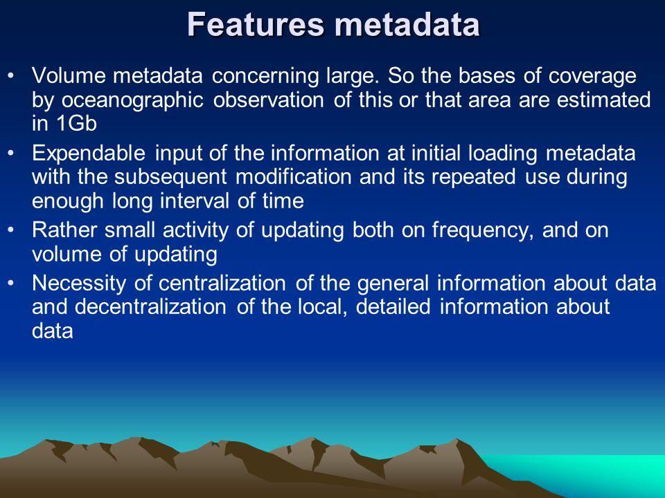 Features metadata Volume metadata concerning large.