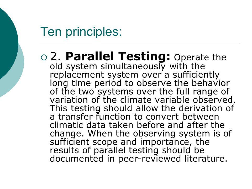 Ten principles:  2.
