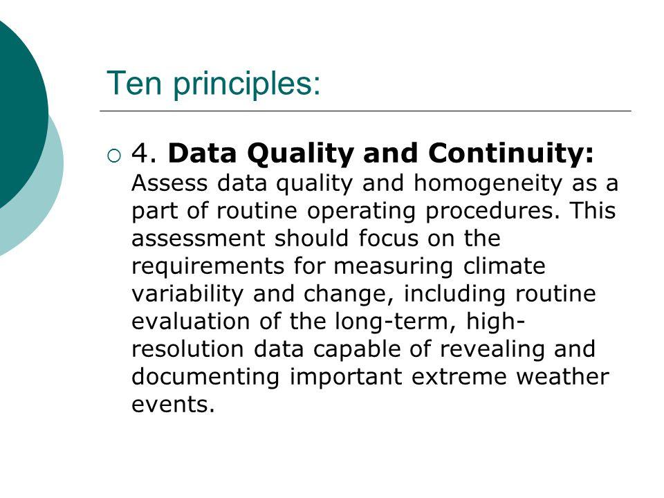 Ten principles:  4.