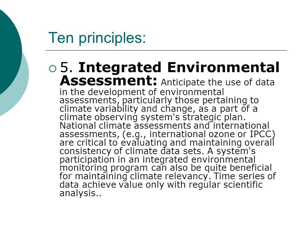 Ten principles:  5.