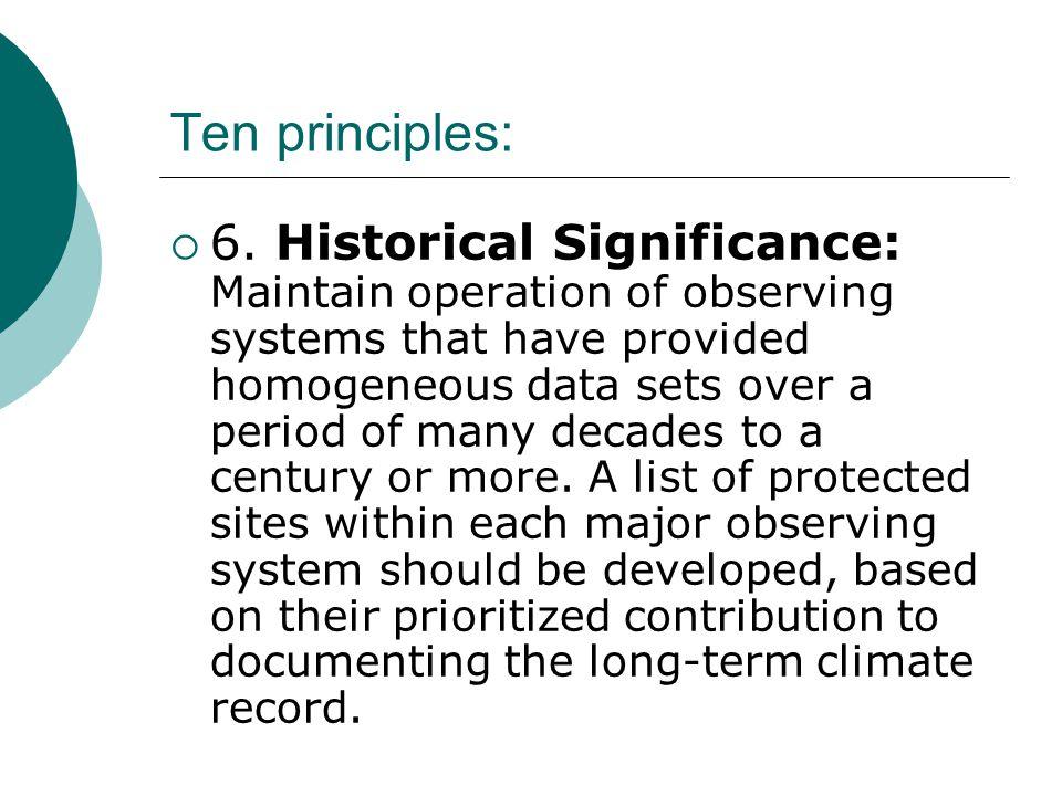 Ten principles:  6.