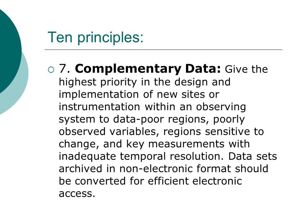 Ten principles:  7.