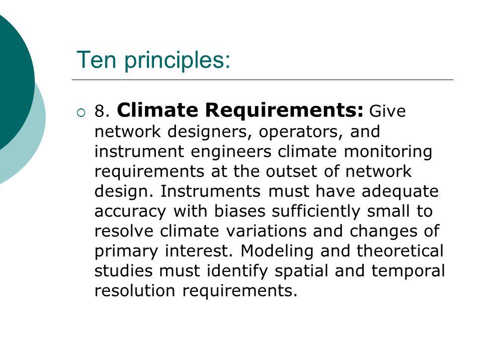 Ten principles:  8.