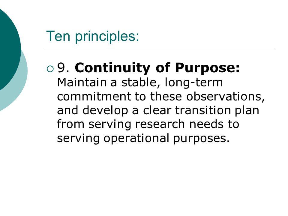 Ten principles:  9.
