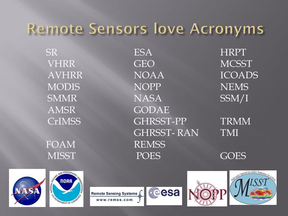 SRESAHRPT VHRRGEOMCSST AVHRR NOAAICOADS MODISNOPPNEMS SMMRNASASSM/I AMSRGODAE CrIMSSGHRSST-PP TRMM GHRSST- RANTMI FOAM REMSS MISST POES GOES