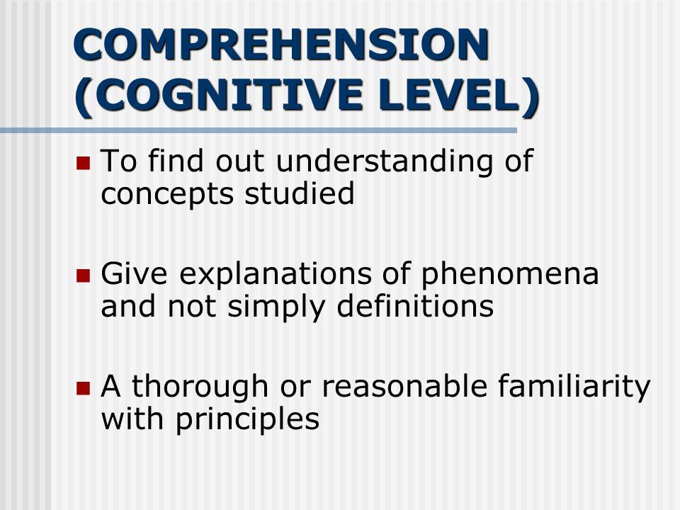 Comprehension (Aras Kefahaman) Classifies Explains Summarizes Converts Predicts Distinguishes between Translation, interpretation, and extrapolation