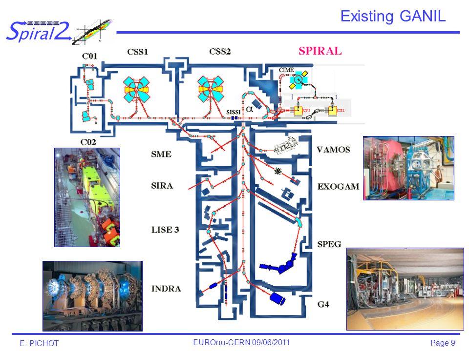 E. PICHOT EUROnu-CERN 09/06/2011 Page 9 Existing GANIL