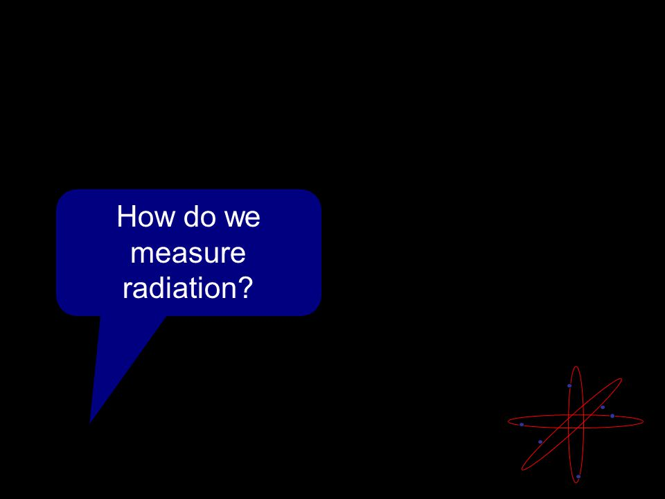 How do we measure radiation?
