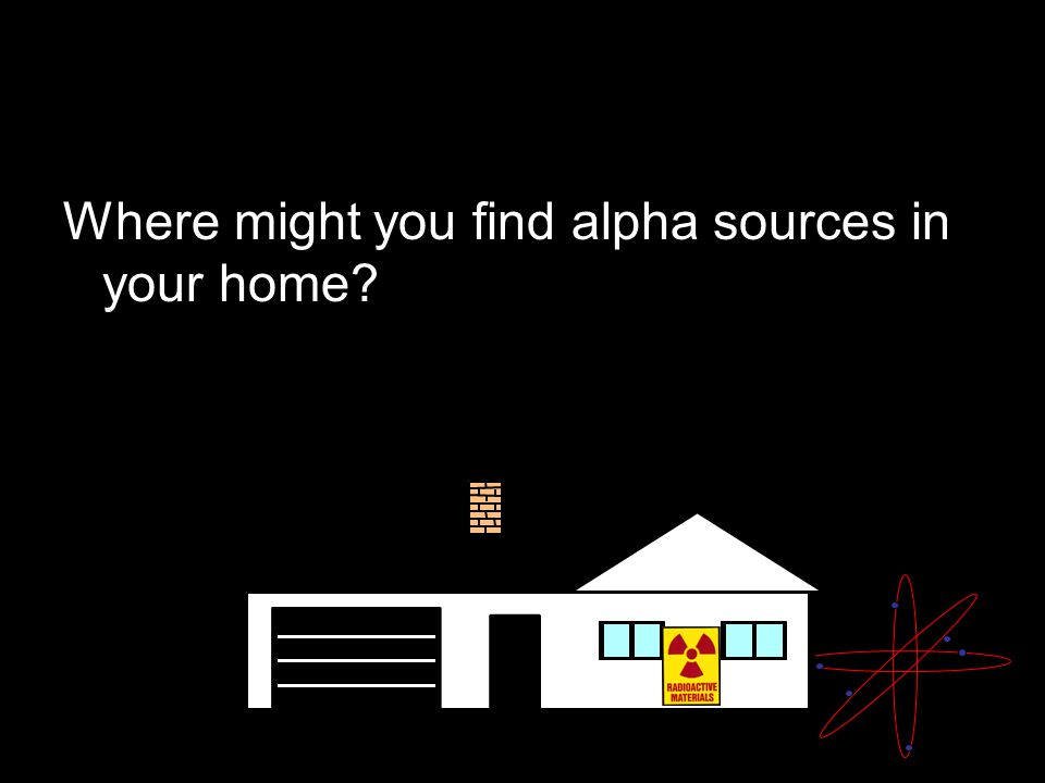 Where might you find alpha sources in your home?
